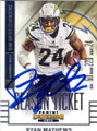 RYAN MATHEWS SAN DIEGO CHARGERS AUTOGRAPHED FOOTBALL CARD #110915A