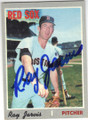 RAY JARVIS BOSTON RED SOX AUTOGRAPHED VINTAGE BASEBALL CARD #11415E