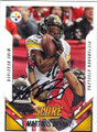 MARTAVIS BRYANT PITTSBURGH STEELERS AUTOGRAPHED FOOTBALL CARD #111415F