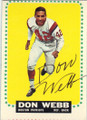 DON WEBB BOSTON PATRIOTS AUTOGRAPHED VINTAGE FOOTBALL CARD #111415G