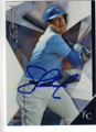 SALVADOR PEREZ KANSAS CITY ROYALS AUTOGRAPHED BASEBALL CARD #111615B