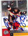 DUSTIN BYFUGLIEN CHICAGO BLACKHAWKS AUTOGRAPHED HOCKEY CARD #111615D