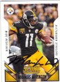 MARKUS WHEATON PITTSBURGH STEELERS AUTOGRAPHED FOOTBALL CARD #111615i