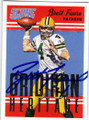 BRETT FAVRE GREEN BAY PACKERS AUTOGRAPHED FOOTBALL CARD #111715B