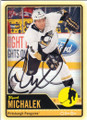 ZBYNEK MICHALEK PITTSBURGH PENGUINS AUTOGRAPHED HOCKEY CARD #111715C