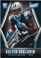 KELVIN BENJAMIN CAROLINA PANTHERS AUTOGRAPHED ROOKIE FOOTBALL CARD #111715E