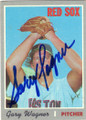 GARY WAGNER BOSTON RED SOX AUTOGRAPHED VINTAGE BASEBALL CARD #111715H