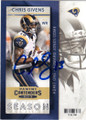 CHRIS GIVENS ST LOUIS RAMS AUTOGRAPHED FOOTBALL CARD #111815D