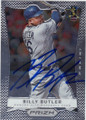 BILLY BUTLER KANSAS CITY ROYALS AUTOGRAPHED BASEBALL CARD #111815F