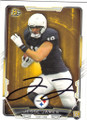 JESSE JAMES PITTSBURGH STEELERS AUTOGRAPHED ROOKIE FOOTBALL CARD #111915C