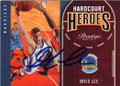 DAVID LEE NEW YORK KNICKS & GOLDEN STATE WARRIORS AUTOGRAPHED BASKETBALL CARD #111915D