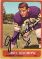 JERRY REICHOW MINNESOTA VIKINGS AUTOGRAPHED VINTAGE FOOTBALL CARD #111915G