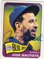 JOSE BAUTISTA TORONTO BLUE JAYS AUTOGRAPHED BASEBALL CARD #112015F