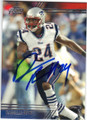 DARRELLE REVIS NEW ENGLAND PATRIOTS AUTOGRAPHED FOOTBALL CARD #112115B