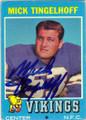 MICK TINGELHOFF MINNESOTA VIKINGS AUTOGRAPHED VINTAGE FOOTBALL CARD #112115F