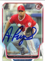 ALBERT PUJOLS LOS ANGELES ANGELS OF ANAHEIM AUTOGRAPHED BASEBALL CARD #112115H