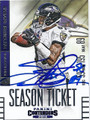 STEVE SMITH SR BALTIMORE RAVENS AUTOGRAPHED FOOTBALL CARD #112315i
