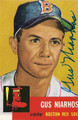 GUS NIARHOS BOSTON RED SOX AUTOGRAPHED BASEBALL CARD #113015A