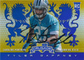 TYLER GAFFNEY CAROLINA PANTHERS AUTOGRAPHED ROOKIE FOOTBALL CARD #120215C