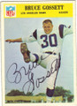 BRUCE GOSSETT LOS ANGELES RAMS AUTOGRAPHED VINTAGE ROOKIE FOOTBALL CARD #120315A
