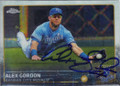 ALEX GORDON KANSAS CITY ROYALS AUTOGRAPHED BASEBALL CARD #120315C