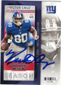 VICTOR CRUZ NEW YORK GIANTS AUTOGRAPHED FOOTBALL CARD #120315H