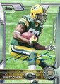 TY MONTGOMERY GREEN BAY PACKERS AUTOGRAPHED ROOKIE FOOTBALL CARD #120415B