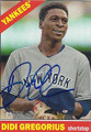 DIDI GREGORIUS NEW YORK YANKEES AUTOGRAPHED BASEBALL CARD #120415D