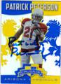 PATRICK PETERSON ARIZONA CARDINALS AUTOGRAPHED FOOTBALL CARD #120415E