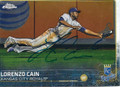 LORENZO CAIN KANSAS CITY ROYALS AUTOGRAPHED BASEBALL CARD #120515C