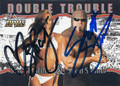 STACY KEIBLER & SCOTT STEINER DOUBLE AUTOGRAPHED WRESTLING CARD #120515i