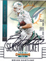 BRIAN HARTLINE MIAMI DOLPHINS AUTOGRAPHED FOOTBALL CARD #120615A