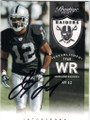 JACOBY FORD OAKLAND RAIDERS AUTOGRAPHED FOOTBALL CARD #120615B