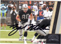 ZACH MILLER OAKLAND RAIDERS AUTOGRAPHED FOOTBALL CARD #120715E