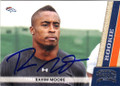 RAHIM MOORE DENVER BRONCOS AUTOGRAPHED ROOKIE FOOTBALL CARD #120715H