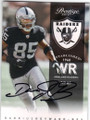 DARRIUS HEYWARD-BEY OAKLAND RAIDERS AUTOGRAPHED FOOTBALL CARD #120715J