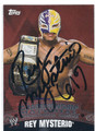 REY MYSTERIO AUTOGRAPHED WRESTLING CARD #120815E