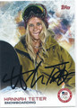 HANNAH TETER AUTOGRAPHED OLYMPIC SNOWBOARDING CARD #120815H