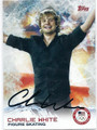 CHARLIE WHITE AUTOGRAPHED OLYMPIC FIGURE SKATING CARD #120915H