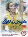 ASHLEY WAGNER AUTOGRAPHED OLYMPIC FIGURE SKATING CARD #121015F