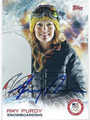 AMY PURDY AUTOGRAPHED OLYMPIC SNOWBOARDING CARD #121015H