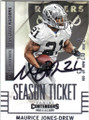 MAURICE JONES-DREW OAKLAND RAIDERS AUTOGRAPHED FOOTBALL CARD #121415J