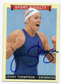 JENNY THOMPSON AUTOGRAPHED OLYMPIC SWIMMING CARD #121515E