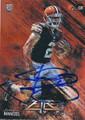 JOHNNY MANZIEL CLEVELAND BROWNS AUTOGRAPHED ROOKIE FOOTBALL CARD #121815D