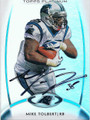 MIKE TOLBERT CAROLINA PANTHERS AUTOGRAPHED FOOTBALL CARD #121815J