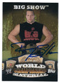 BIG SHOW AUTOGRAPHED WRESTLING CARD #122115D
