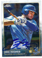 ERIC HOSMER KANSAS CITY ROYALS AUTOGRAPHED BASEBALL CARD #122115G