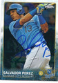 SALVADOR PEREZ KANSAS CITY ROYALS AUTOGRAPHED BASEBALL CARD #122315E