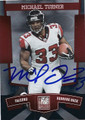 MICHAEL TURNER ATLANTA FALCONS AUTOGRAPHED FOOTBALL CARD #122315i