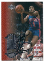 ISIAH THOMAS DETROIT PISTONS AUTOGRAPHED BASKETBALL CARD #122315J